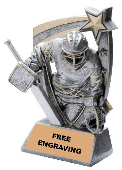 3-D Star Hockey Goalie Trophy