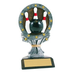 All Star Bowling Resin Trophy