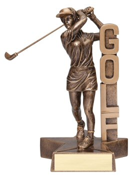 Female Golfer Billboard Trophy