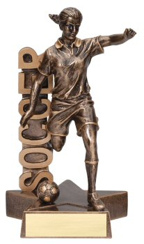 Female Soccer Billboard Trophy