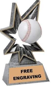 Bobble Baseball Resin Trophy