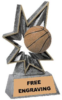Bobble Basketball Resin Trophy