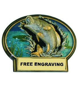 Burst Thru Bass Fishing Plaque