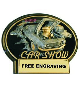 Burst Thru Car Show Oval Plaque