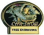 Brust Thru Car Show Oval Plaque