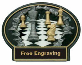 Burst Thru Chess Oval Plaque
