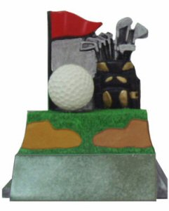 Classic Golf Theme Resin