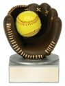 Color Tek Softball Mitt and Ball Resin Award