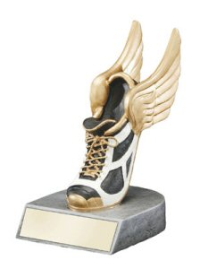 Color Tek Running Winged Sneaker Resin Award