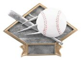 Baseball Diamond Resin Plate