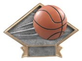 Basketball Diamond Plate Trophy