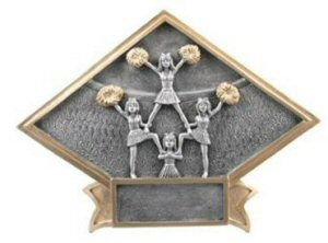 Cheerleading Diamond Resin Plate
