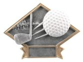 Golf Diamond Resin Plaque