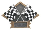 Checker Flags Diamond Resin Plate