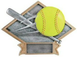 Softball Diamond Resin Plate