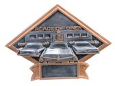 Roadside Diner Diamond Resin Plate