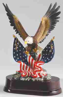 American Flags Eagle Trophy