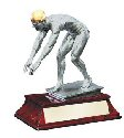 Elite Male Swimmer Statue