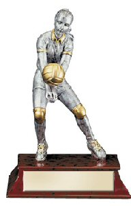 Elite Female Volleyball Player Statue