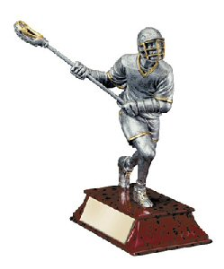 Elite Male Lacrosse Player Statue