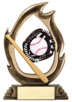Flame Series Baseball Trophy