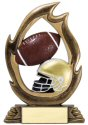 Flame Series Football Trophy