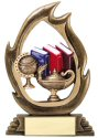 Flame Series Scholastic Trophy