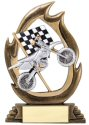 Flame Series Motorcycle Racing Trophy