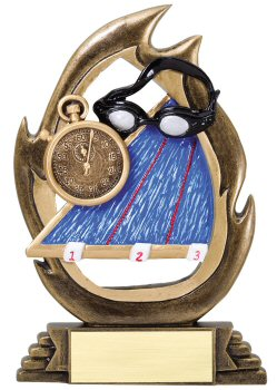 Flame Series Swimming Trophy