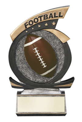 Gold Star Football Resin