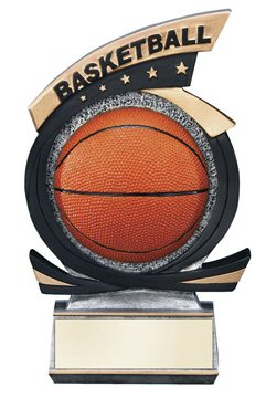 Gold Star Basketball Resin Trophy