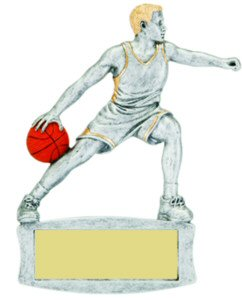 Boys Basketball Magnetic Resin Trophy