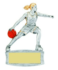 Girls Basketball Magnetic Resin Trophy