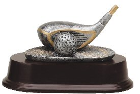 Golf Driver Resin Trophy