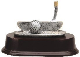 Golf Putter Resin Trophy