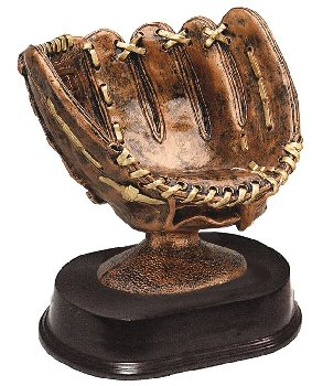 Bronze Baseball Glove Resin Award