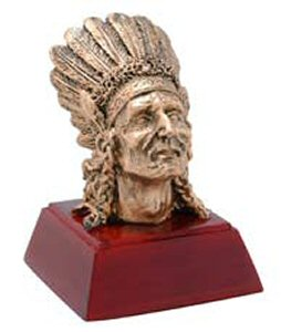Indian Mascot Resin Statue