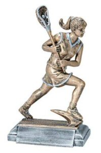 Masterworks Female Lacrosse Player Sculpture
