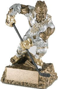 Hockey Monster Resin Statue