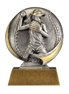 Motion Xtreme Female Softball Resin Trophy