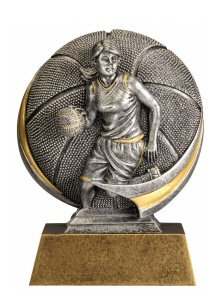 Motion Xtreme Female Basketball Resin Trophy
