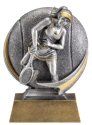 Motion Xtreme Female Tennis Player Resin Trophy