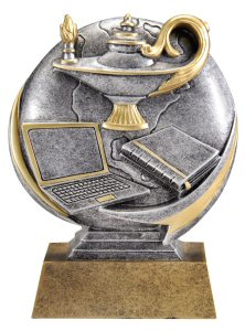 Motion Xtreme Lamp of Knowledge Resin Trophy