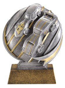 Motion Xtreme Pinewood Derby Resin Trophy