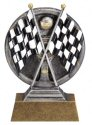 Motion Xtreme Checker Flags Resin Trophy