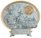 Male Marines Oval Resin Plate Plaque
