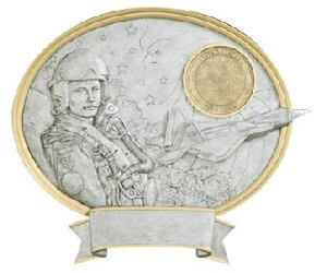 Male Air Force Oval Resin Plate