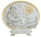 Male Coast Guard Oval Resin Plate Plaque