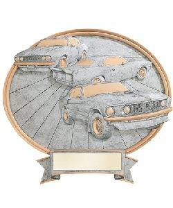 Muscle Cars Oval Resin Plate Plaque