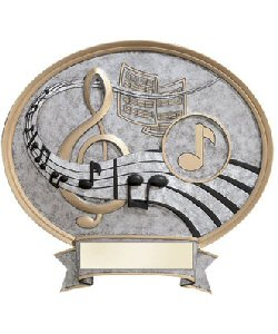 Music Oval Resin Plate